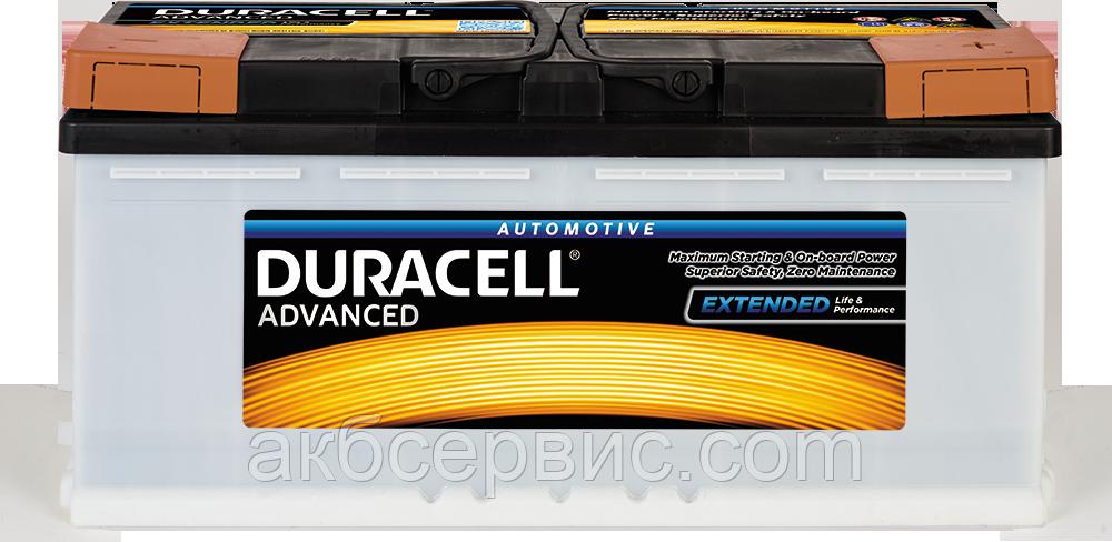 Аккумулятор автомобильный Duracell UK019 Advanced (DA100)