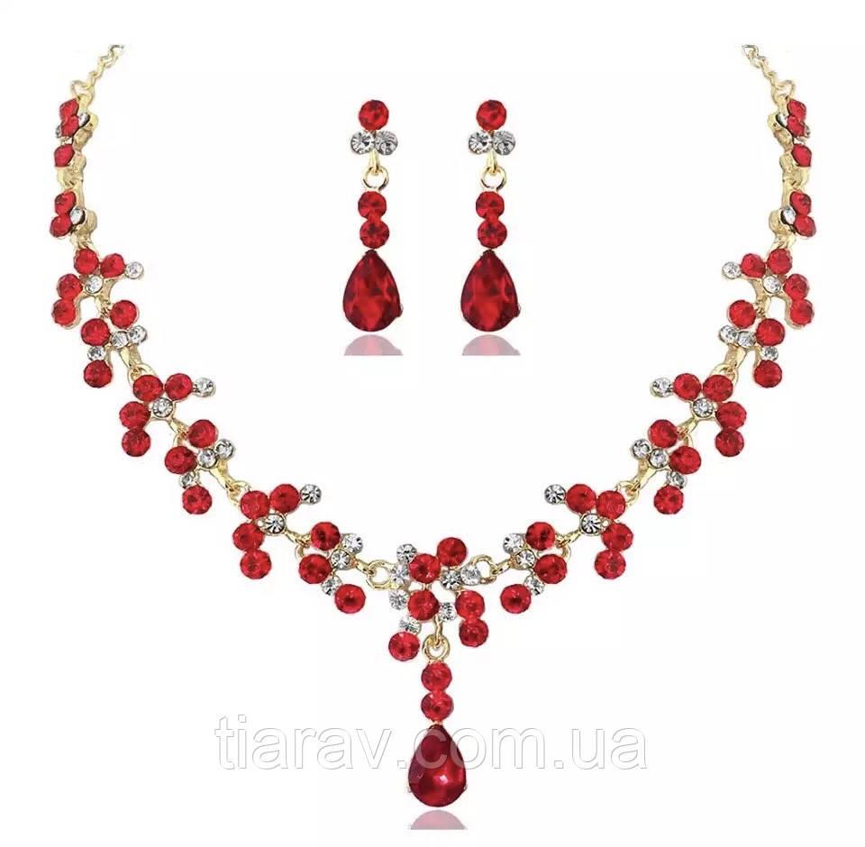 Колье и серьги, комплект бижутерии, ожерелье
