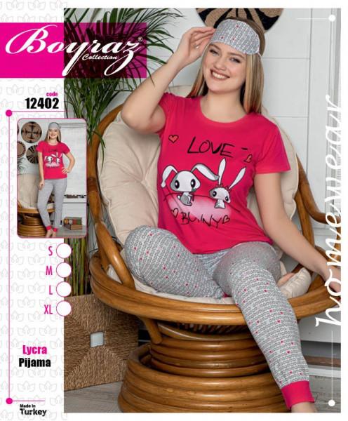 Піжама жіноча футболка з капрі IŞIK 9582