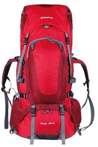 Треккинговый вместительный рюкзак 60+5 л. KingCamp Peak (KB3248) Red красный