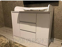 Комод пеленальний( пеленатор) 4+1 Лайт Еко софт плюс Білий