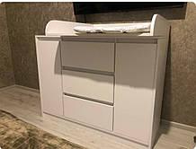 Комод пеленальный( пеленатор) Ф3+2д белый