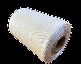 Нитка вощеная плоская по коже толщина 1мм цвет светло-бежевый бобина 500 метров, фото 5