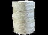 Нитка вощеная плоская по коже толщина 1мм цвет светло-бежевый бобина 500 метров, фото 3