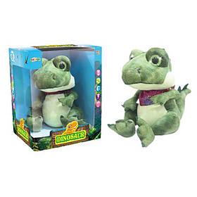 Динозавр повторюшка, размер 21 см. Звук, свет, плюш. В кор-ке