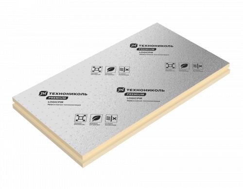 Теплоизоляционные плиты LOGICPIR 50 мм негорючий фольгированный  утеплитель