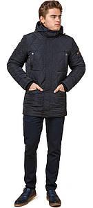 Мужская куртка прямого фасона тёмно-синяя модель 44842 (ОСТАЛСЯ ТОЛЬКО 48(M))