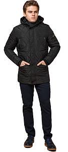 Стильная куртка мужская чёрная зимняя модель 44842