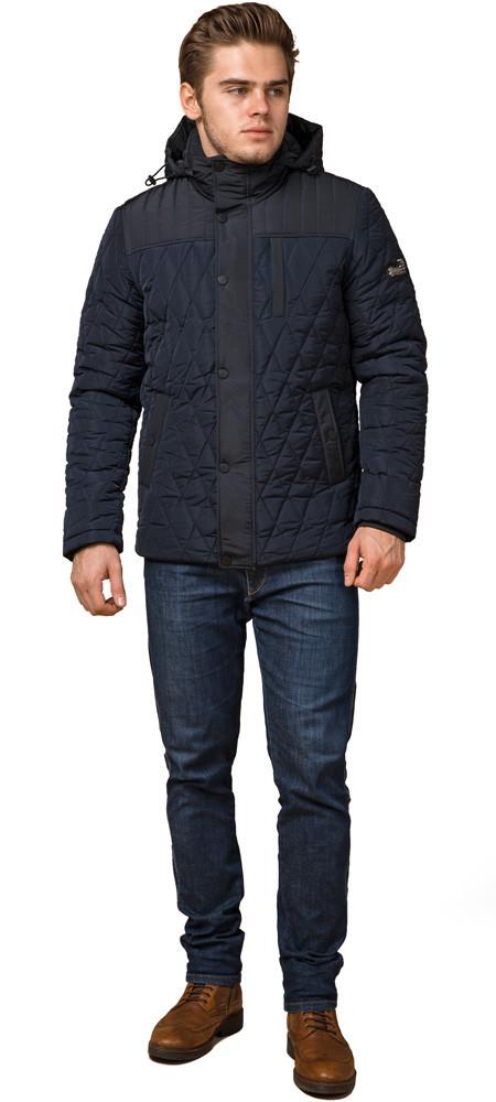 Мужская зимняя куртка синего цвета теплая модель 30538