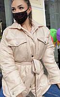 Куртка женская плащевка на силиконе 42-44 46-48, фото 1