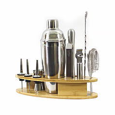 Набір для бару Youchen MC-Y1 12 предметів з підставкою інвентар для бармена