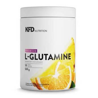 Глютамин, KFD Premium L-Glutamine 500 грамм, Клубника-Малина
