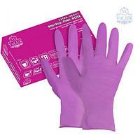 """Хозяйственные розовые перчатки для работы по дому """"VitLux"""" S М L"""