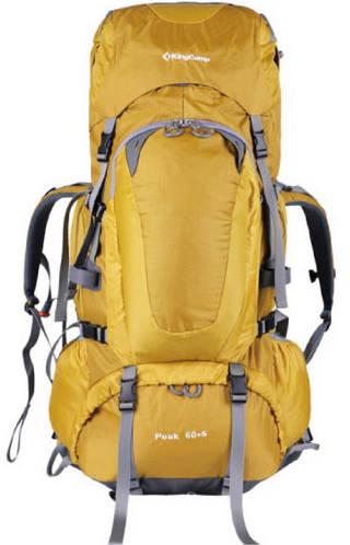 Треккинговый объемистый рюкзак 60+5 л. KingCamp Peak 94169 желтые