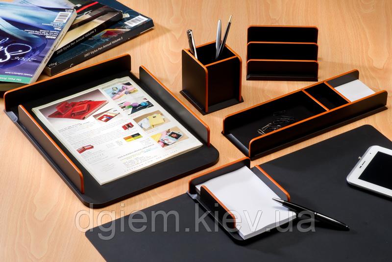 Настольный набор деревянный BE-ILLIUM, 6 предметов, черный