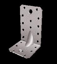 Уголок металлический перфорированный усиленный с увеличенным ребром 90х90х65х2,5 мм