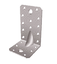 Уголок металлический перфорированный усиленный с увеличенным ребром 100х100х90х2,5 мм