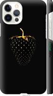 "Чехол на Apple iPhone 12 Черная клубника ""3585c-2053-2448"""