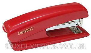 Степлер канцелярский SCHOLZ 4022 №24/6 55 мм 20 л красный