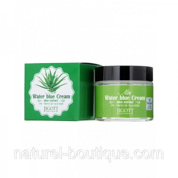 Крем для лица Jigott Aloe Water Blue cream с экстрактом  алоэ вера
