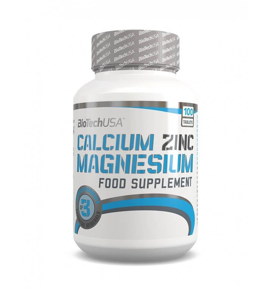 BioTech USA Calcium Zinc Magnesium 100 таб.