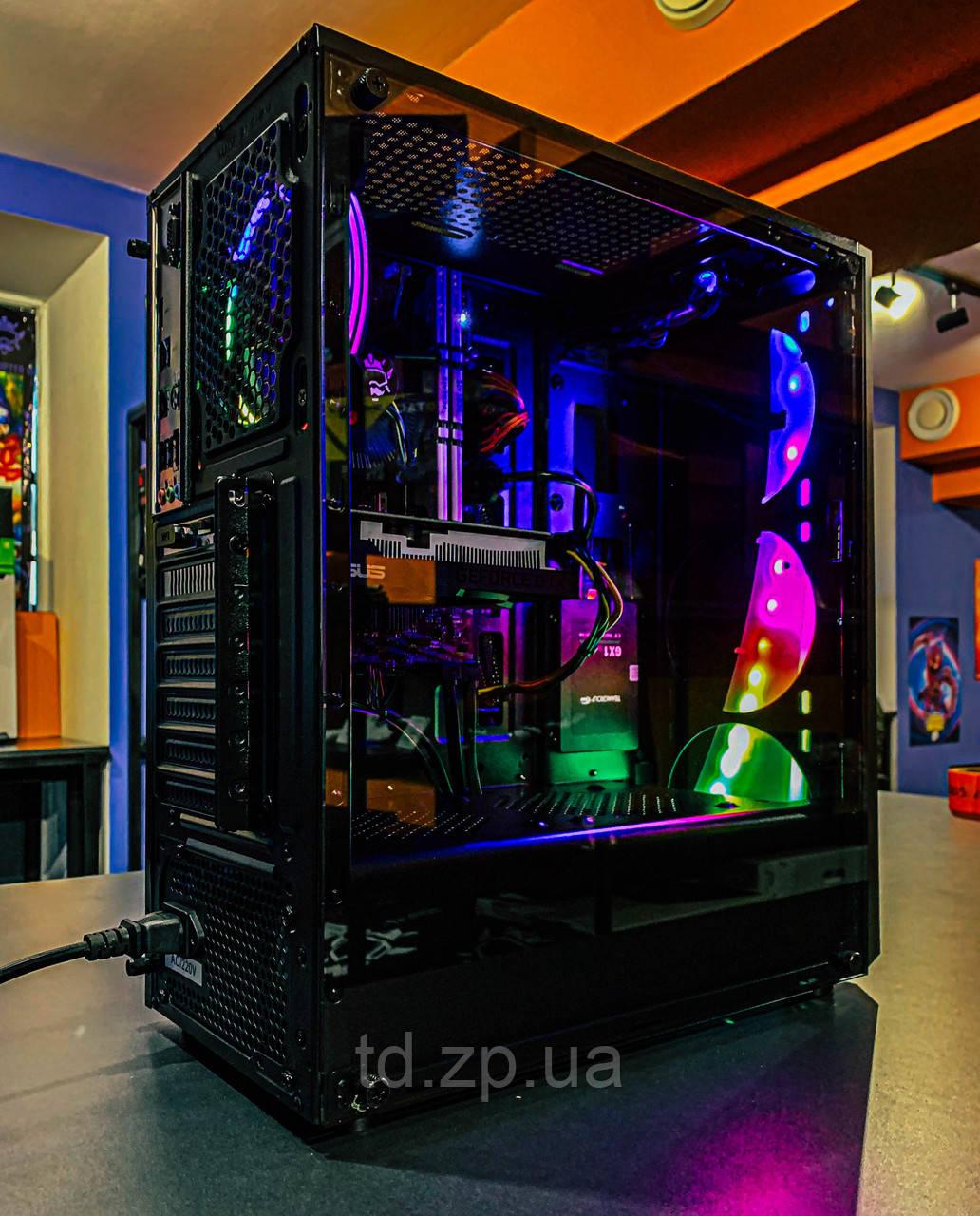 Игровой компьютер Ryzen 5 2600 + GTX 1650 4Gb + RAM 16GB + HDD 500Gb + SSD 120Gb