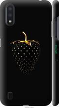 """Чохол на Samsung Galaxy A01 A015F Чорна полуниця """"3585c-1842-2448"""""""