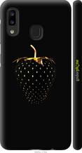 """Чехол на Samsung Galaxy A20e A202F Черная клубника """"3585c-1709-2448"""""""