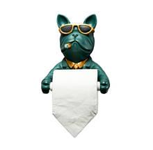Креативная настенная вешалка для туалетной бумаги в виде собаки Oak Manor 16*20*12 см