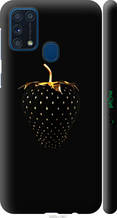 """Чохол на Samsung Galaxy M31 M315F Чорна полуниця """"3585c-1907-2448"""""""