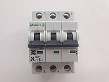 Автоматический выключатель Moeller CLS6-B2/3, категория B, 6kA, In=2A, 3P, артикул 247698