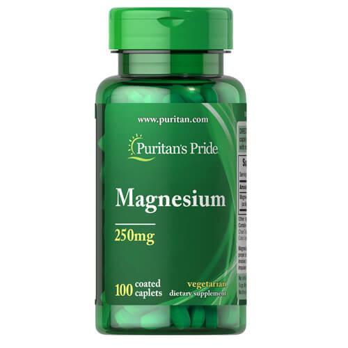 Магний, Puritan's Pride Magnesium 250 mg 100 таб