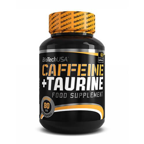 Кофеин, BioTech USA Caffeine + Taurine 60 капсул