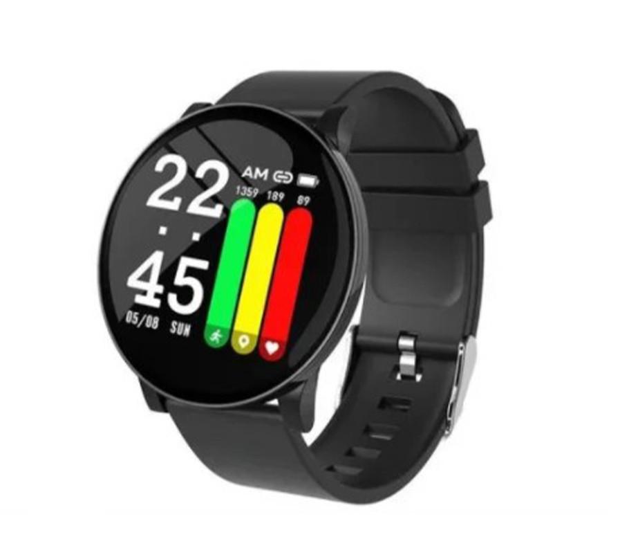 Умные часы Фитнес треккер Smart Bracelete W8 black Черный