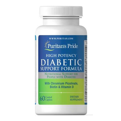 Витаминно-минеральный комплекс, от диабета Puritan's Pride Diabetic Support Formula 60 таб