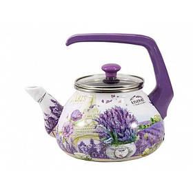 Чайник эмалированный Interos Лаванда 2,2 л 16707- 2,2 ITR