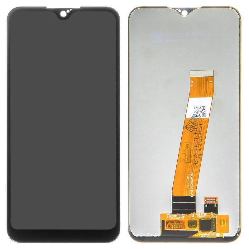 Дисплей (екран) для телефону Samsung Galaxy A01 A015 + Touchscreen (original) Black