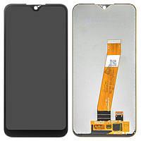 Дисплей (екран) для телефону Samsung Galaxy A01 A015 + Touchscreen (original) Black, фото 1