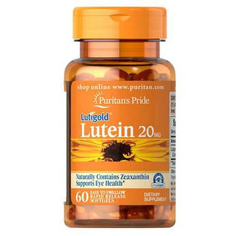 Puritan'sPride Lutein 20 mg with Zeaxanthin 60 капсул
