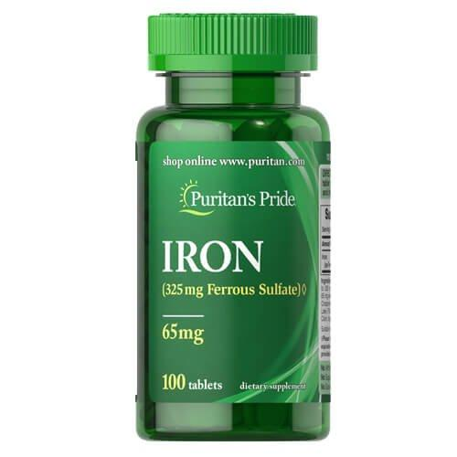 Puritan's Pride Iron Ferrous Sulfate 65 mg 100 таб