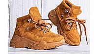 Женские ботинки кроссовки замша рыжие в стиле Balenciaga Camel 36-41 37
