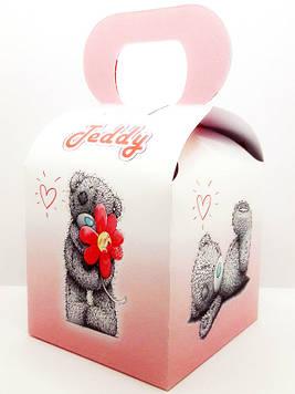 """""""Тедди Розовый"""" - Бонбоньерка 10/10/12 см."""