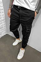 Мужские джинсы черного цвета с манжетом