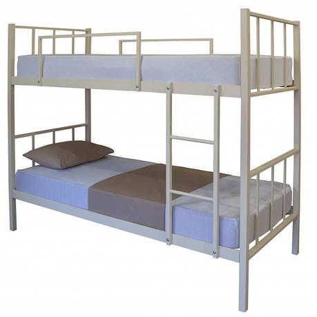 Кровать Грета двухъярусная металлическая, фото 2
