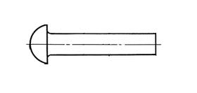 09.26 DIN 660 (Заклепки с полукруглой головкой)