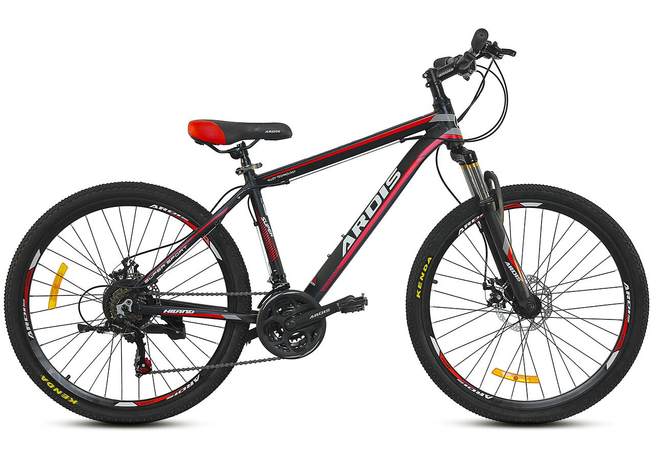 """Горный велосипед Ardis HILAND MTB R26"""" 17"""" с алюминиевой рамой и дисковыми тормозами (Черно-красный)"""