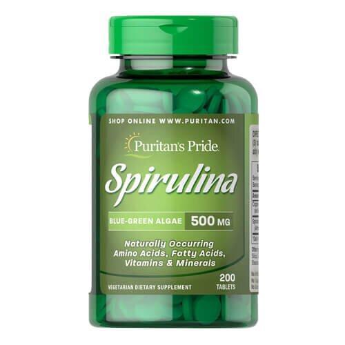 Puritan's Pride Spirulina 500 mg 200 таб