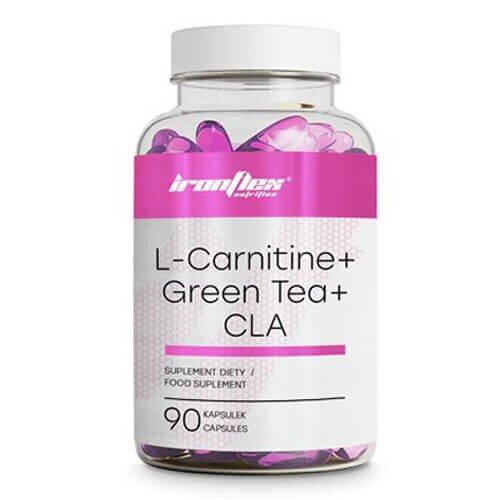 Жіросжігателя, IronFlex L-Carnitine, Green Tea & CLA 90 таб