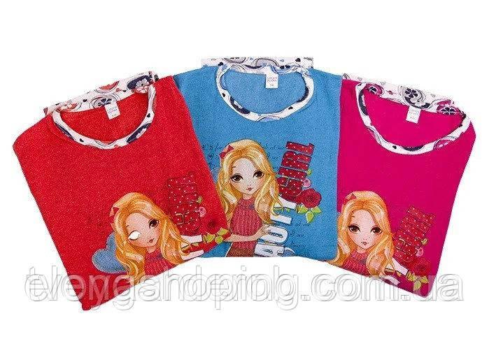 Детская утепленная пижама на байке для девочки(5-10 лет)