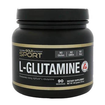 Глютамин Калифорния, California Gold Nutrition L-Glutamine 454 грамм